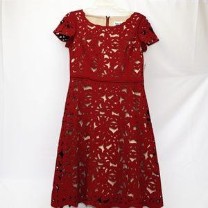 Nue by Shani red laser cut dress